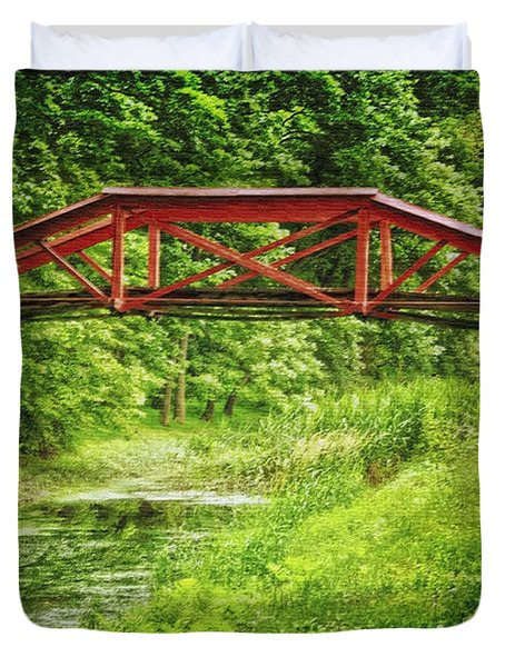 Canal Bridge Duvet Cover