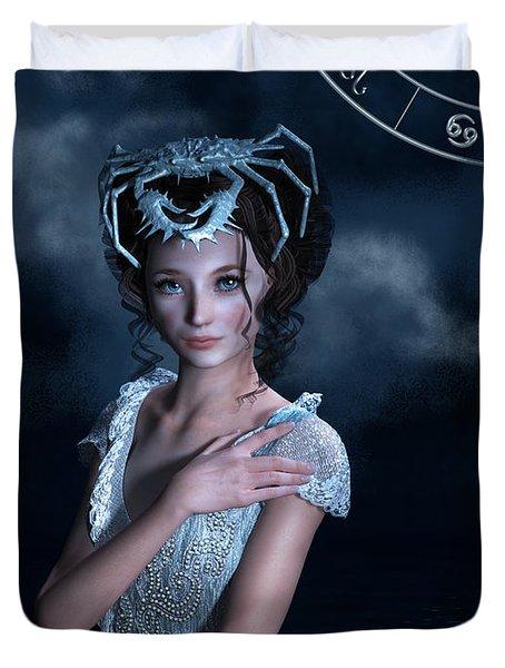 Cancer Zodiac Fantasy Duvet Cover