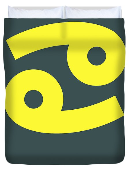 Cancer Zodiac Sign Yellow Duvet Cover