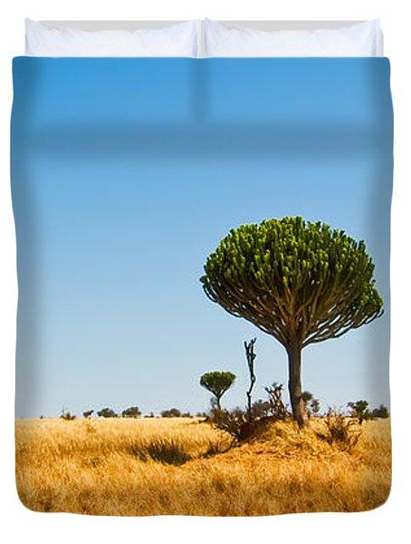 Candelabra Trees Duvet Cover by Adam Romanowicz