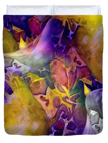 Candle Flower Duvet Cover by Allison Ashton
