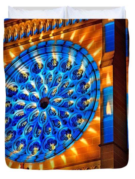 Candle Lights On Walls Duvet Cover by Miroslava Jurcik