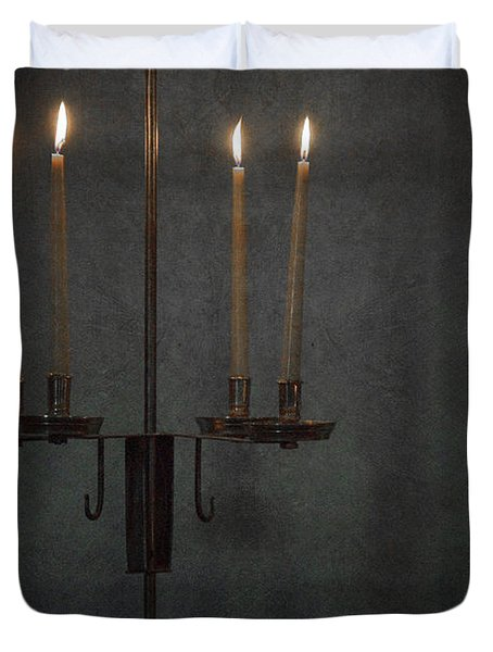 Candles In The Dark Duvet Cover by Margie Hurwich
