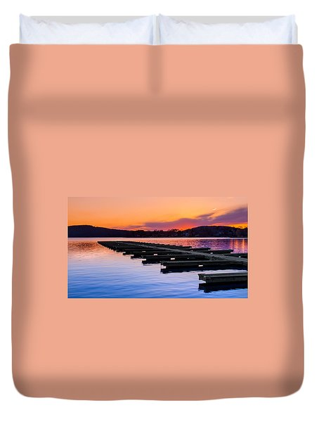 Candlewood Lake Duvet Cover