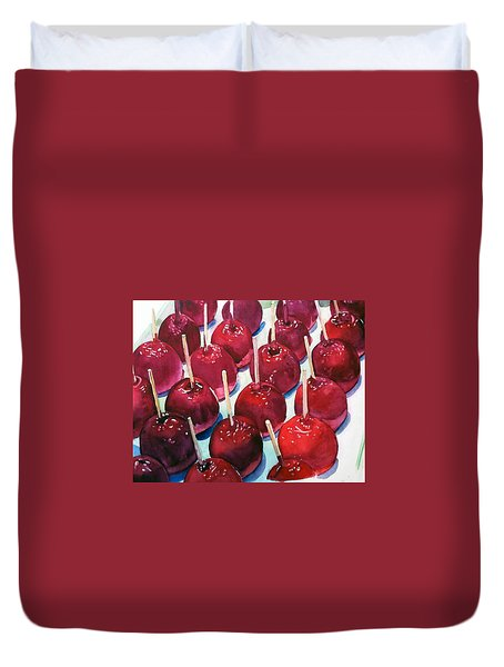 Candy Apples Duvet Cover