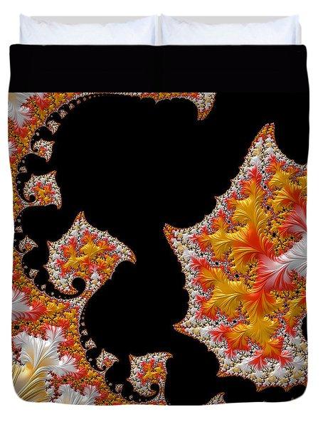 Candy Corn Duvet Cover by Susan Maxwell Schmidt