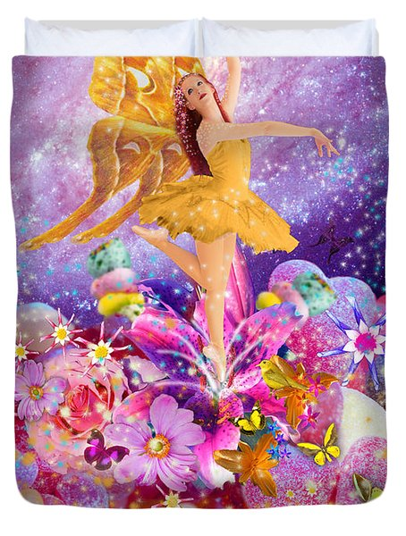 Candy Sugarplum Fairy Duvet Cover by Alixandra Mullins