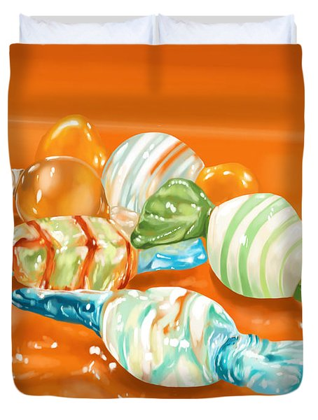 Candy Duvet Cover by Veronica Minozzi