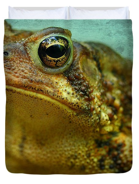 Cane Toad Duvet Cover by Michael Eingle