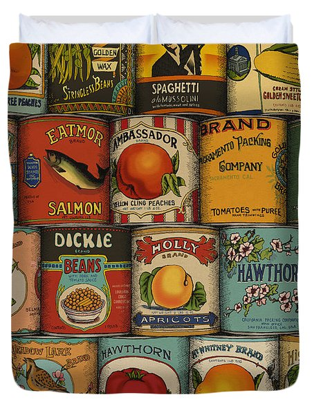 Canned Duvet Cover