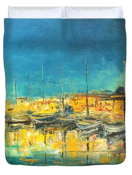 Cannes By Night Duvet Cover