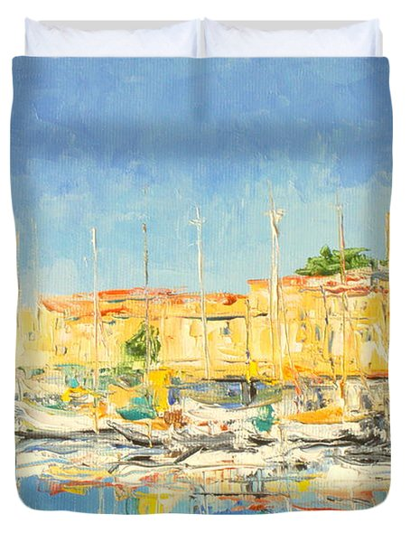 Cannes Harbour Duvet Cover