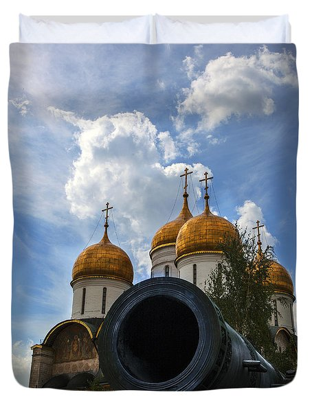 Cannon And Cathedral  - Russia Duvet Cover