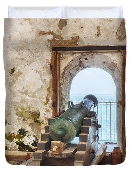 Cannon At Fort San Felipe Del Morro Duvet Cover