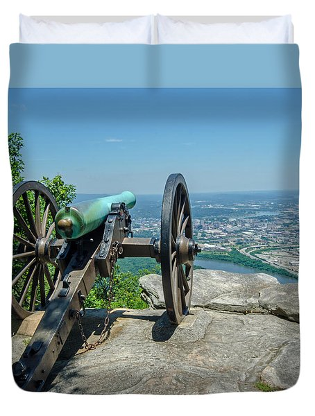 Duvet Cover featuring the photograph Cannon At Point Park by Susan  McMenamin