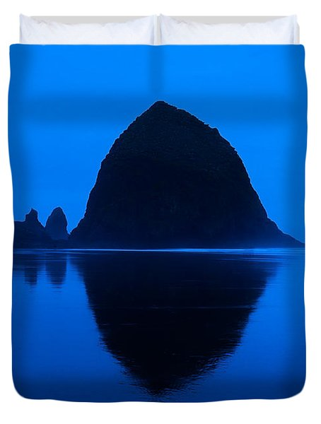 Cannon Beach Blue Duvet Cover