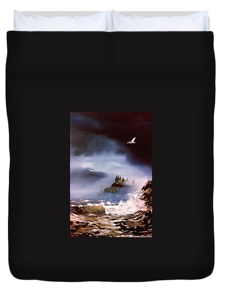 Cannon Beach Oregon Duvet Cover