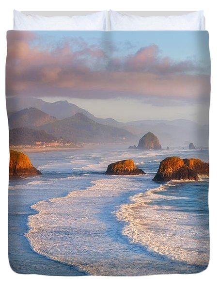 Cannon Beach Sunset Duvet Cover