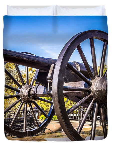 Cannon In New Orleans Washington Artillery Park Duvet Cover by Paul Velgos