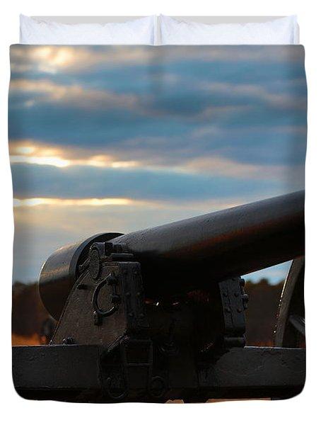 Cannon Of Manassas Battlefield Duvet Cover