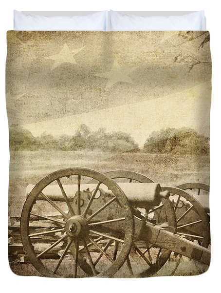 Cannons At Pea Ridge Duvet Cover