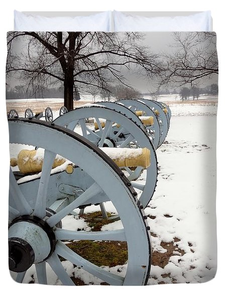 Cannon's In The Snow Duvet Cover