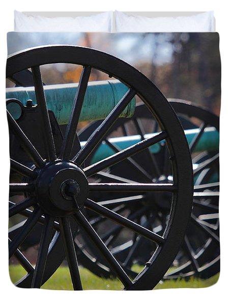 Cannons Of Manassas Battlefield Duvet Cover