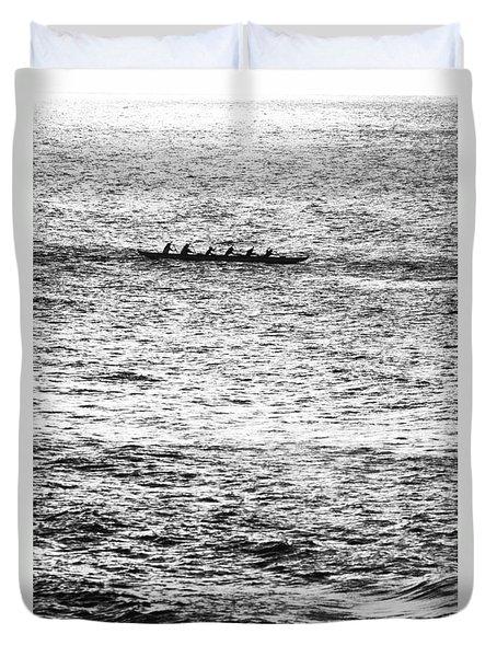 Canoe Glitter Duvet Cover by Sean Davey