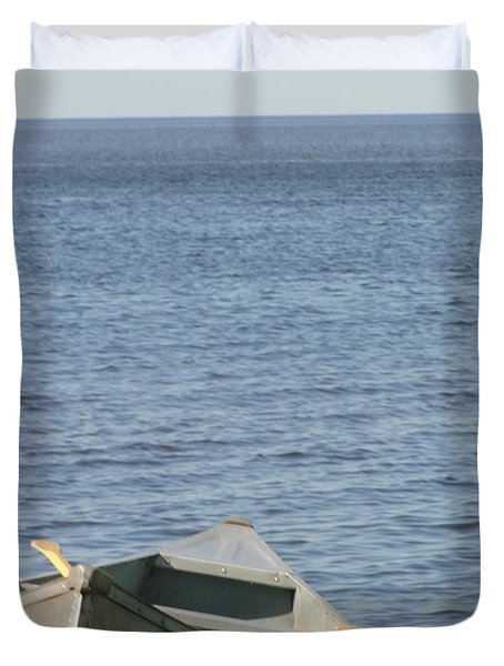 Duvet Cover featuring the photograph Canoe by Tiffany Erdman
