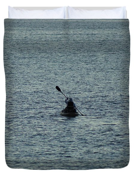 Duvet Cover featuring the photograph Canoeing In The Florida Riviera by Rafael Salazar