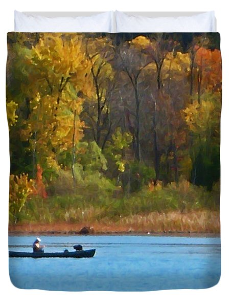 Canoer 2 Duvet Cover by Aimee L Maher Photography and Art Visit ALMGallerydotcom