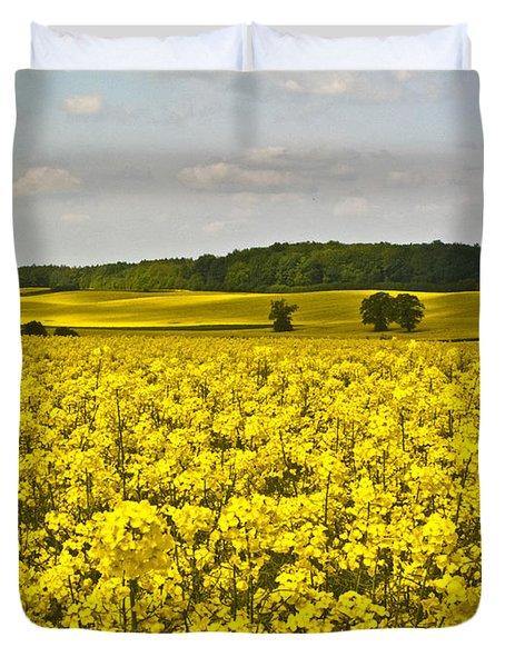 Canola Field Duvet Cover by Heiko Koehrer-Wagner