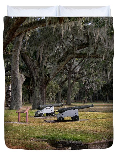 Canons Of Fort Frederica Georgia Duvet Cover