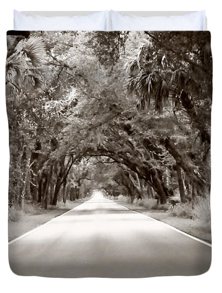Canopy Of Trees Duvet Cover by Bill Howard