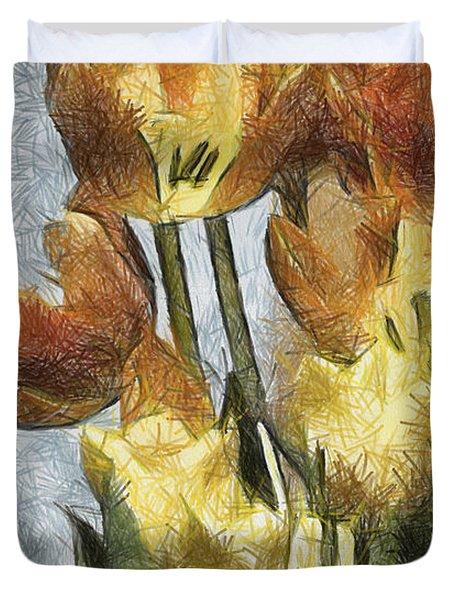 Can't Wait For Spring Duvet Cover by Trish Tritz