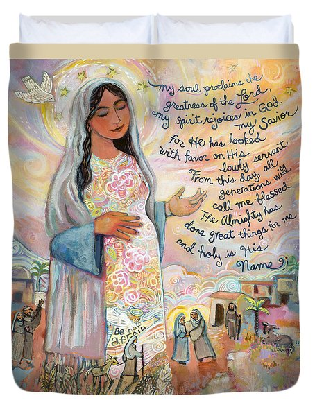 Canticle Of Mary Duvet Cover