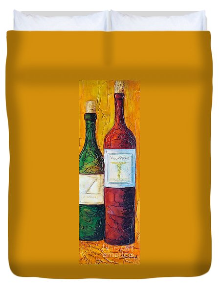 Duvet Cover featuring the mixed media Cantina Campione by Phyllis Howard