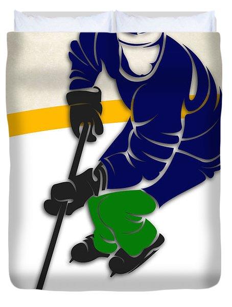 Canucks Hockey Rink Duvet Cover