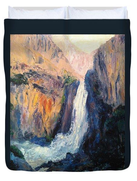 Canyon Blues Duvet Cover by Gail Kirtz