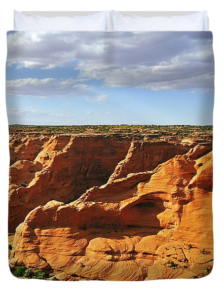 Canyon De Chelly From Face Rock Overlook Duvet Cover