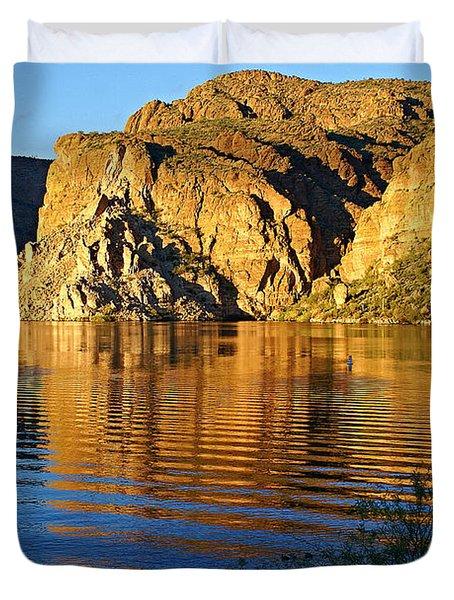 Canyon Lake Reflections Duvet Cover