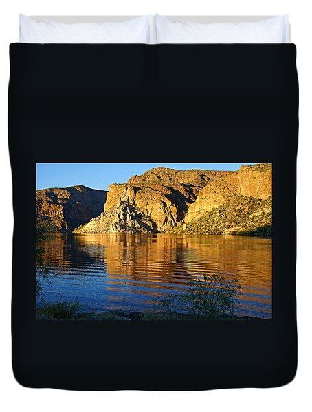 Canyon Lake Reflections Duvet Cover