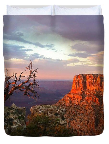 Canyon Rim Tree Duvet Cover by Heidi Smith
