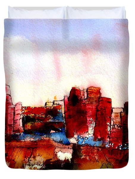 Duvet Cover featuring the painting Canyonlands 02 by Anne Duke
