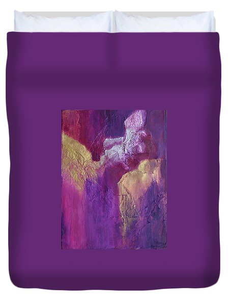 Duvet Cover featuring the painting Canyonlands by Nancy Jolley