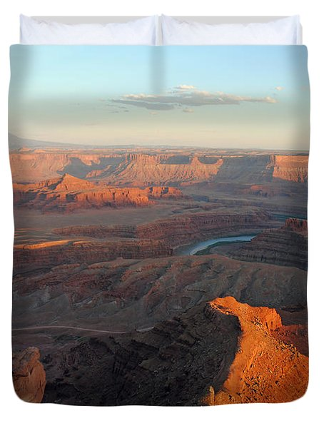 Duvet Cover featuring the photograph Canyonlands Np Dead Horse Point 21 by Jeff Brunton