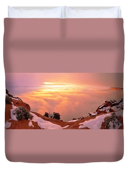 Canyonlands Winter Duvet Cover by Chad Dutson
