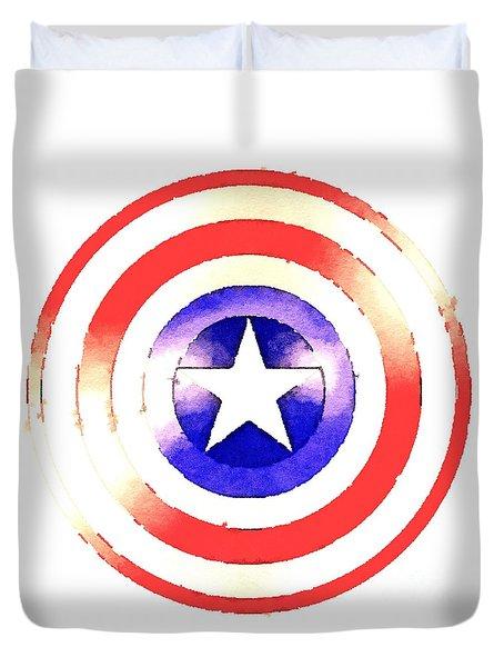 Cap Am Shield Duvet Cover
