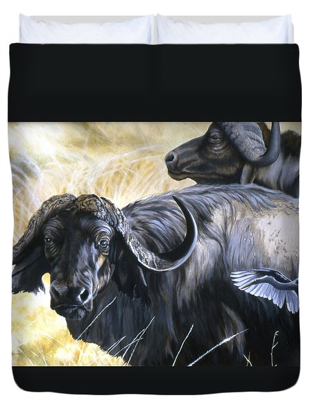 Da206 Cape Buffalo By Daniel Adams Duvet Cover