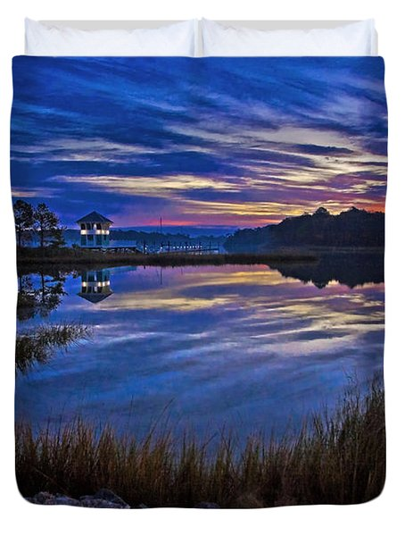 Cape Charles Sunrise Duvet Cover